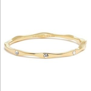NWT Kate Spade Heavy Metals Wave Bangle, Gold